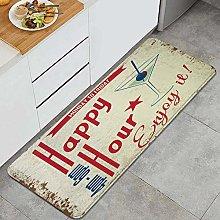 HASENCIV Floor Mat,Beer Retro Vintage Happy Hour