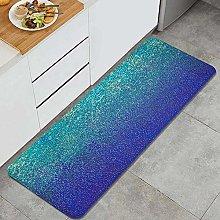 HASENCIV Floor Mat,Blue gradient glittering