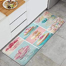 HASENCIV Floor Mat,Collage of Cupcakes and