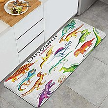 HASENCIV Floor Mat,Dinosaur for Kids,Absorbent and
