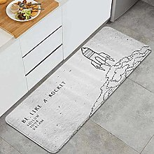 HASENCIV Floor Mat,Dream Words for Dream and Space