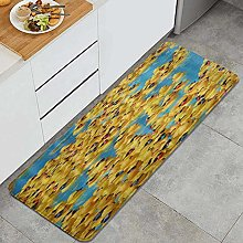 HASENCIV Floor Mat,Ducks with Sunglasses swimming