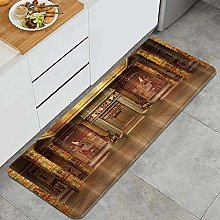 HASENCIV Floor Mat,Egyptians Tombs with Egyptian
