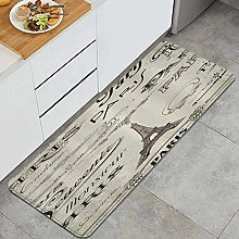 HASENCIV Floor Mat,Eiffel Tower with Paris of