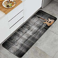 HASENCIV Floor Mat,Electric Guitar with Black