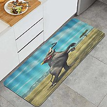 HASENCIV Floor Mat,Elephant with Headphones