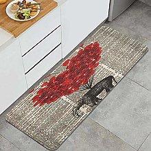 HASENCIV Floor Mat,Elephant with Heart Balloon old