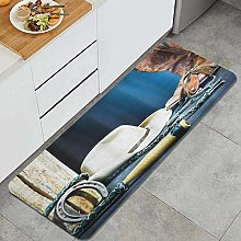 HASENCIV Floor Mat,Equestrian Backdrop with