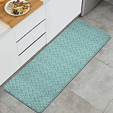 HASENCIV Floor Mat,Ethnic Pattern with Floral