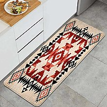HASENCIV Floor Mat,Ethnic Pattern with Rhombuses