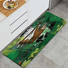 HASENCIV Floor Mat,Exotic Rainforest with Various