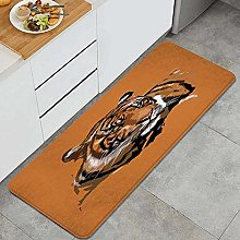 HASENCIV Floor Mat,Exotic Tiger with Retro Colors