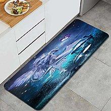 HASENCIV Floor Mat,Fairytale scene with beautiful