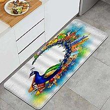 HASENCIV Floor Mat,Fantasy Bird with City Music