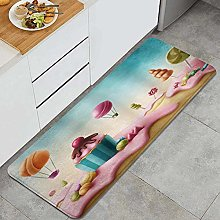 HASENCIV Floor Mat,Fantasy Candyland with Cupcake