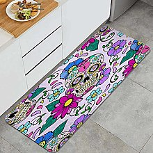 HASENCIV Floor Mat,Festive background with sugar