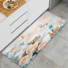 HASENCIV Floor Mat,Floral Bouquet for The Bride of