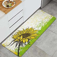 HASENCIV Floor Mat,Floral Print with Sunflowers in