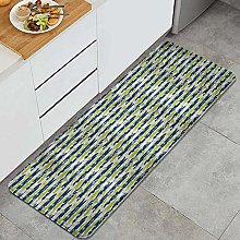 HASENCIV Floor Mat,Floral Stripes with Nature