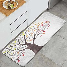 HASENCIV Floor Mat,Forest Tree with Modern