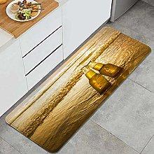 HASENCIV Floor Mat,Gradient Yellow Love Bottles