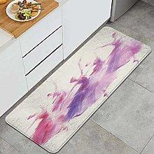 HASENCIV Floor Mat,Pink Dancer Ballet