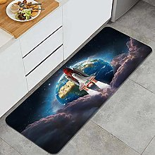 HASENCIV Floor Mat,Space shuttle launch in the