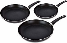HashOneKitchen 3-Piece Non-Stick Frying Pan Set |