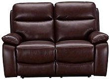 Hasting Real Leather/Faux Leather 2 Seater Manual
