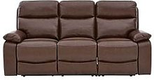 Hasting Real Leather/Faux Leather 3 Seater Manual