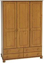Hathaway 3 Door Wardrobe Marlow Home Co. Colour: