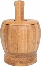 Haudang Pestle Grinding Bowl Set Bamboo Mortar And