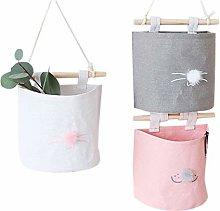 Haude 3 pieces hanging storage bag, cabinet linen