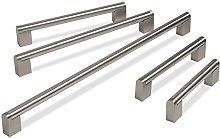 Hausen Brushed Stainless Steel Boss Bar Handles,