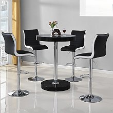 Havana Bar Table In Black With 4 Ritz Black And