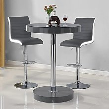 Havana Bar Table In Grey With 2 Ritz Grey And