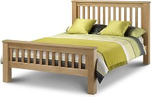 Haven Solid Oak High Foot End Double Bed
