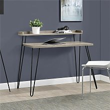 Haven Sonoma Gray Oak Computer Desk With Hairpin