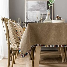 HAVIEANA Tablecloths Brown Tablecover Polyester