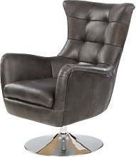 Havza Swivel Wingback Chair Borough Wharf