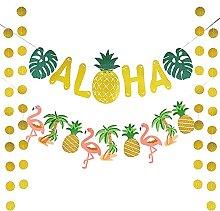 Hawaiian Aloha Party Decorations Banner Set,