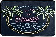Hawaiian Palm Tree Doormat Bath Mat Area Rug for