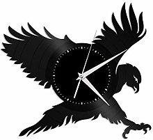 Hawk vinyl wall clock, vinyl record home