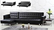 Hawthorn Multifunctional Sofa Black Faux Leather