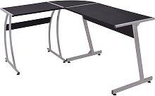 Haylee L-Shape Desk by Black - Symple Stuff