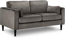 Hayward Grey Velvet 2 Seater Fabric Sofa