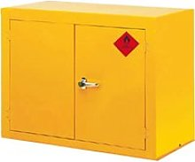 Hazardous Substance Cupboard With 1 Shelf, Yellow,