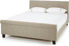 Hazel Linen Fabric Upholstered Double Bed