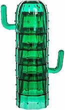 Hbaebdoo Cactus Stacking Glass Cup Set Green