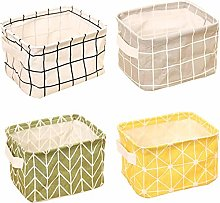 HBAI Storage Baskets,Foldable mini square natural